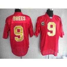 Saints #9 Drew Brees Red Practice Stitched NFL Jersey