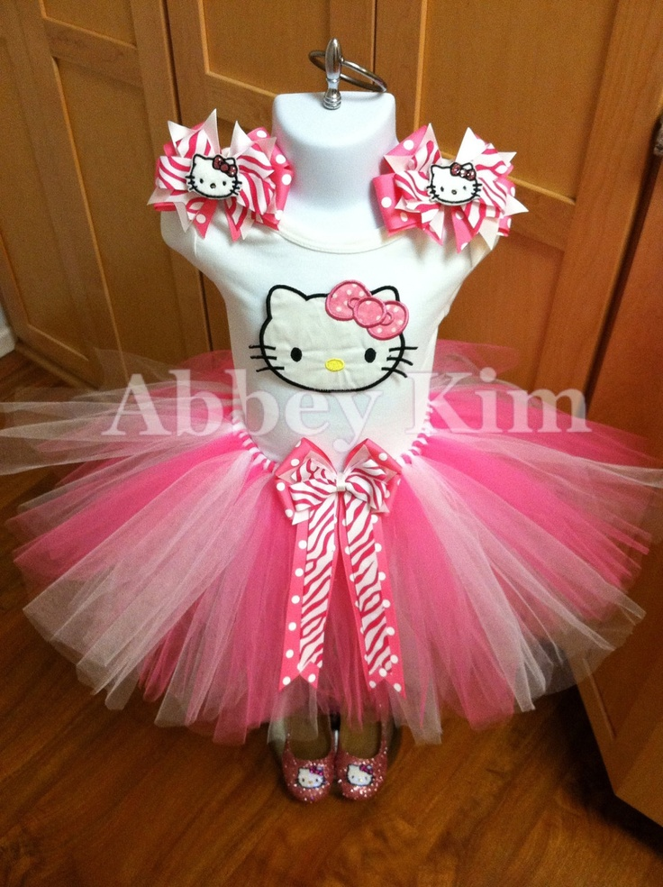 Hello Kitty tutu set by Abbey Kim at Etsy.