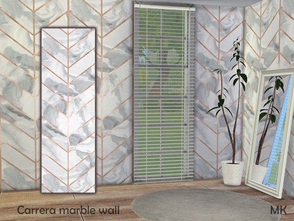 The Sims 4 Carrera Marble Wall Sims 4 Windows Marble Wall