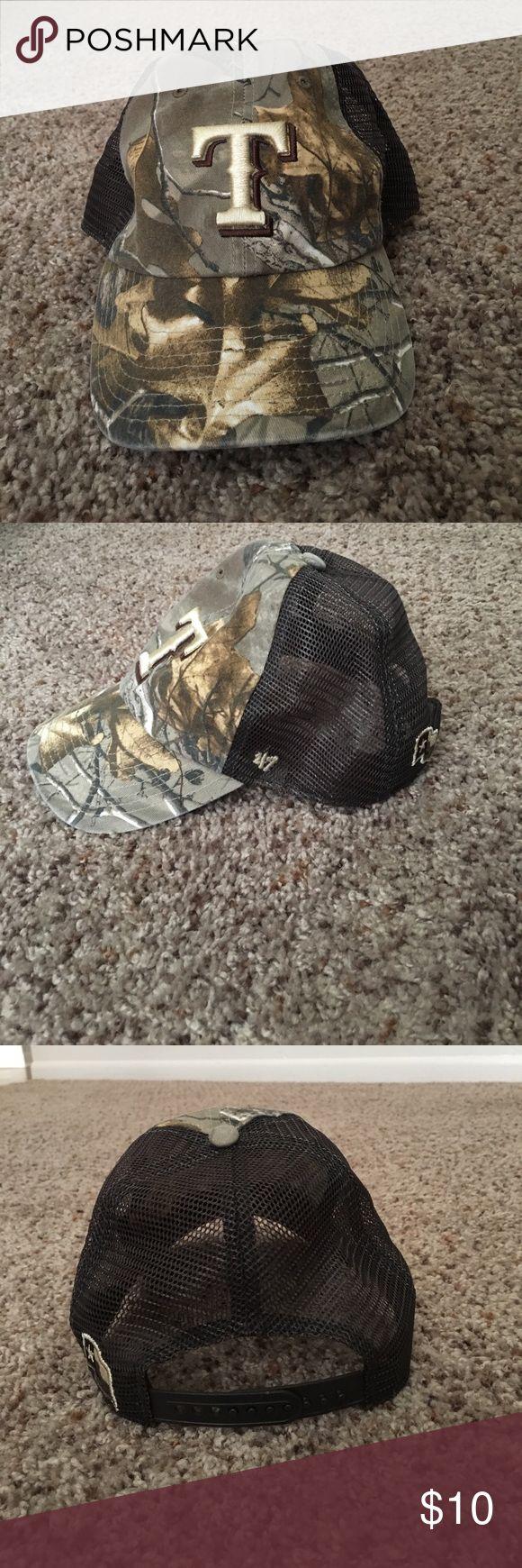 Texas Rangers Camo Hat Adjustable Texas Rangers Camouflage Cap Genuine Merchandise Accessories Hats