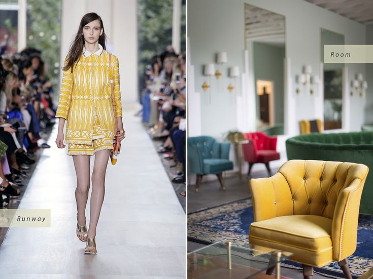 © Tory Burch / Ryan Phillips Tory Burch Spring 2015 Runway   The Fig House, design by Emily Henderson Interior Design Inspired by Spring 2015 Fashion Trends - Condé Nast Traveler