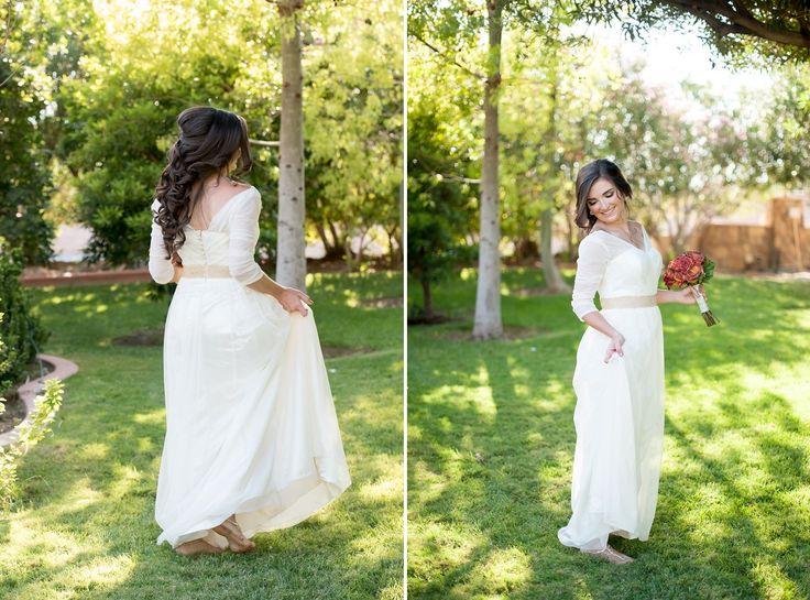 Modern Bride in an Altered Vintage Wedding Dress