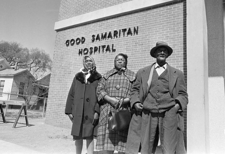 (Fom left) Viola Jackson, mother of Jimmie Lee Jackson, his cousin Rachel Thomas and grandfather Cager Lee arrive at the hospital in Selma, Ala., in 1965 to claim the body of the slain 26-year-old.