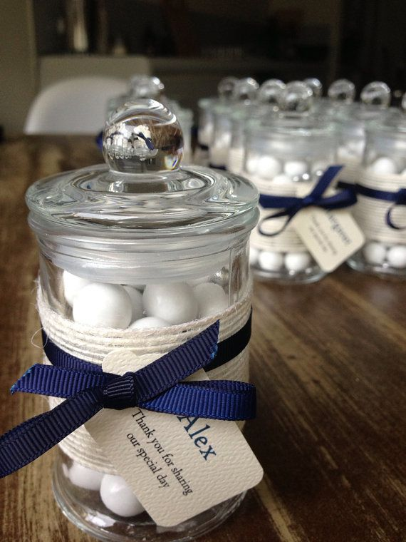 French Glass Apothecary wedding favour jars bomboniere filled handmade to order in Melbourne (sample) on Etsy, $5.00 AUD