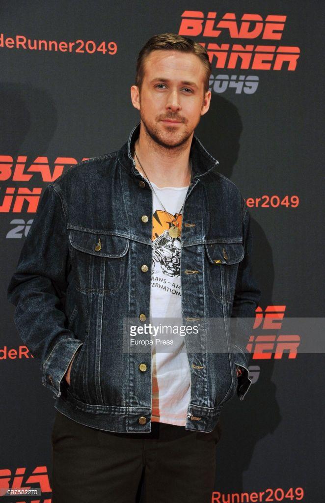 Ryan Gosling in Barcelona June 19, 2017 promo Blade Runner 2049