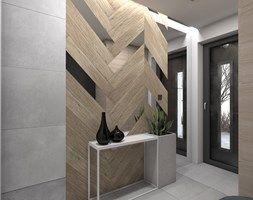 (Tarnowskie Góry) Projekt domu jednorodzinnego 1 - Hol / przedpokój, styl nowoczesny - zdjęcie od BAGUA Pracownia Architektury Wnętrz