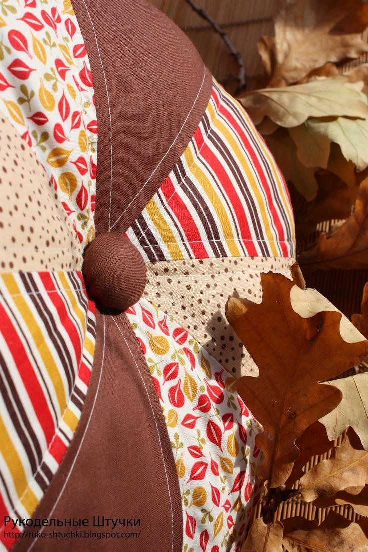 """Рукодельные Штучки: Круглая подушка """"Краски осени"""""""