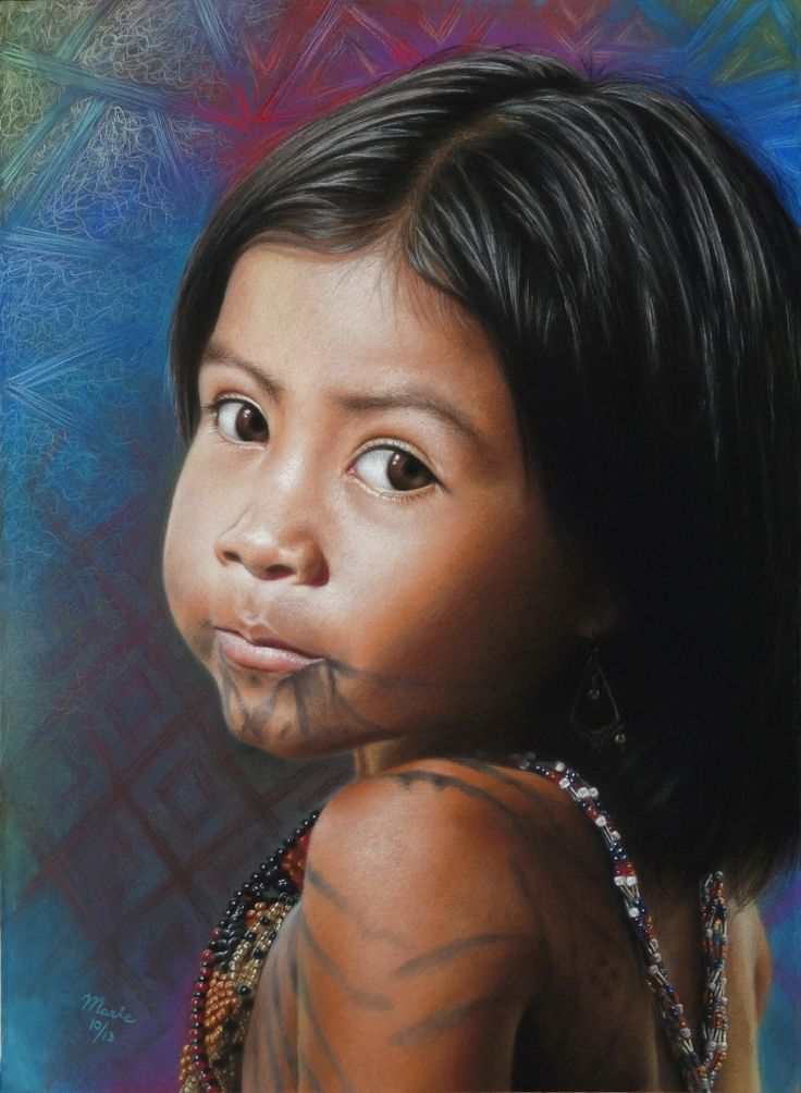 Pequeña 22 x 30 in Pastel on Canson board