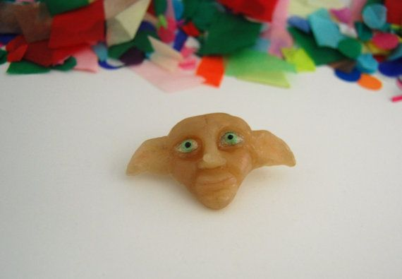 Polymer clay Harry Potter Dobby brooch or by SophieLoxleyDesign