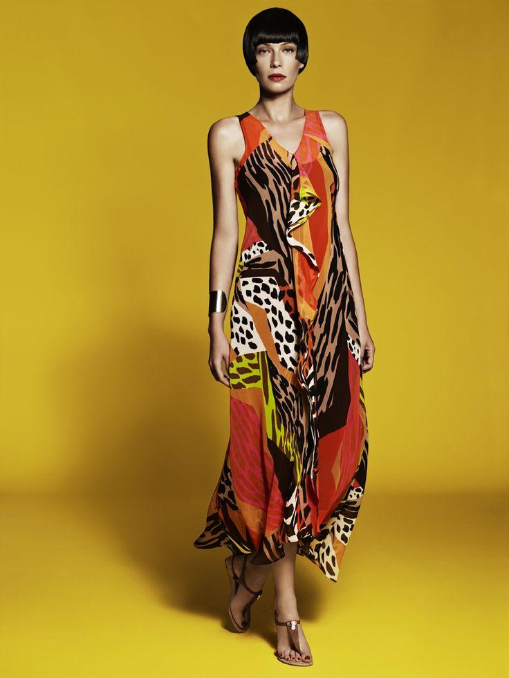Sleeveless Drape Front Dress with Slip