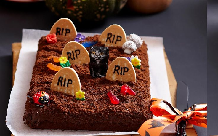 Tombstone brownies recipe - By Woman's Day, These festive tombstone brownies make the ultimate Halloween treats! Easy and delicious!