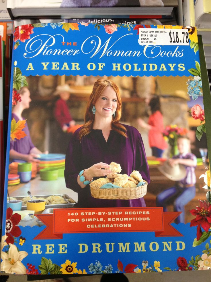 Pioneer Woman Cookbook - Holidays.  I have already made many of these recipes ... never a disappointment!