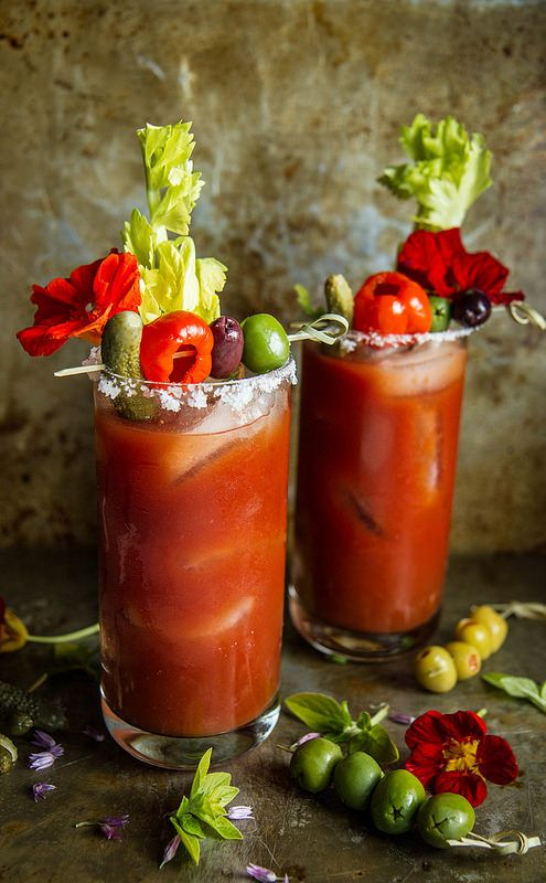 Roasted Red Pepper Bloody Marys