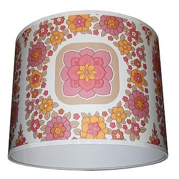wallpapers of flowers Vintage Wallpaper Lampshade Geometric Flowers | 350 x 350 · 56 kB · jpeg