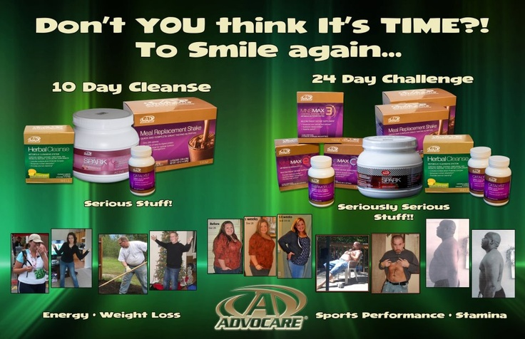 Notice no fine print under these pictures because with Advocare, these results ARE typical!!