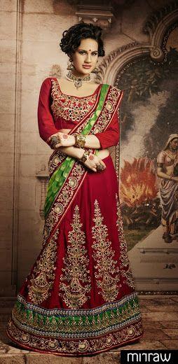 Half banarsi georgette & half velvet designer lehenga saree in double color with heavy zari, moti, stones booti work with desinger heavy rose silk blouse.