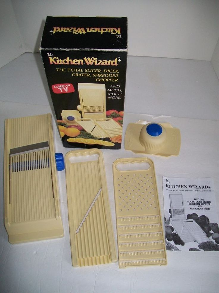 The Kitchen Wizard As Seen On Tv Total Slicer Dicer Grater Chopper More Mib Eenontv Stuff For By Me Pinterest