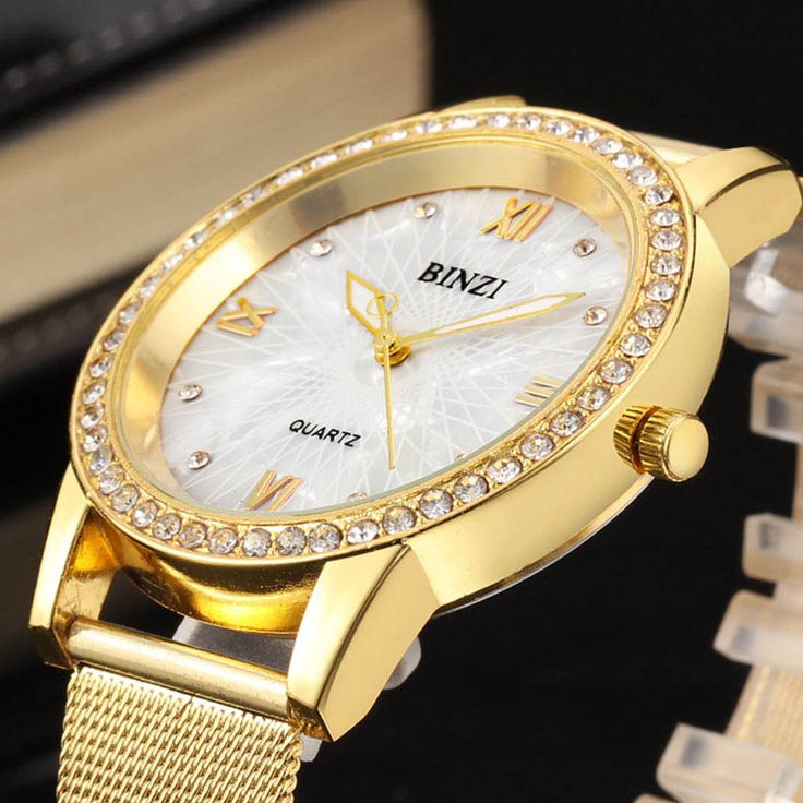 BINZI Gold Women Watch Fashion Lady Dress Quartz Watch Women Rhinestone Casual Wristwatch Crystal Reloje Mujer Relogio Feminino-in Women's Watches from Watches on Aliexpress.com | Alibaba Group