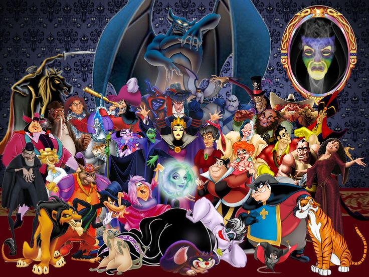 All the villians in one place! Oh, my!