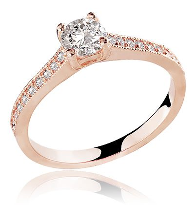 ANEL 18K MALÉVOLA DIAMOND ROSE