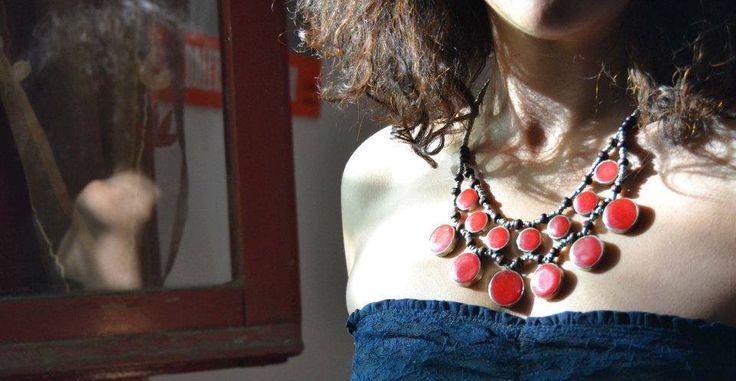 #Collana Afghana in #alpacca.