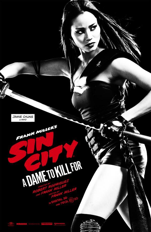 Sin City: A Dame To Kill For – Posters for Miho, Marcie & Frank Miller
