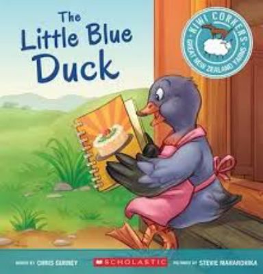 The story of the Little red hen is retold with a New Zealand twist. Little blue duck decides to make a pavlova, but tui, kiwi and weta are no help at all, leaving her to do all the work.