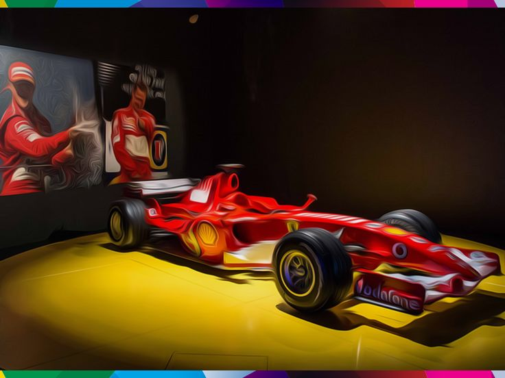 TURIN - THE AUTOMOBILE MUSEUM It tells the history of the most popular means of transport from the beginning of the century to now #Turin #Piemonte #Italy #museum #car #transport #century #history #Ferrari