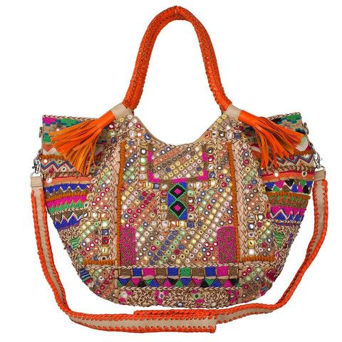 Aisha Tote-A Voluminous Bag Made of Exotic Texture from Intricate Embroidery