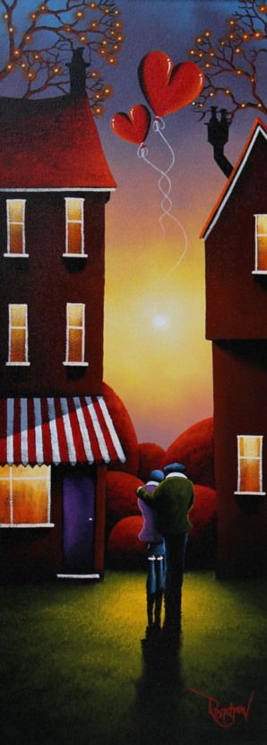 Original Oil Painting On Board By David Renshaw. J'adore, je trouve ce style complètement rafraichissant :)