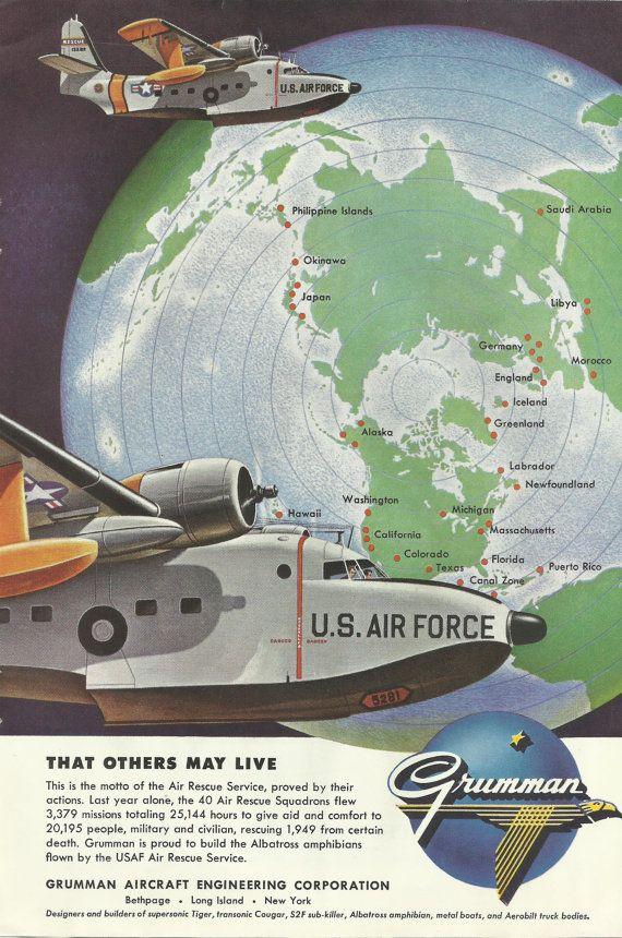 Grumman Albatross Amphibian Aircraft Original by VintageAdOrama, $9.99