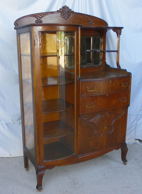 oak china cabinet oak china buffet furniture antique 23838
