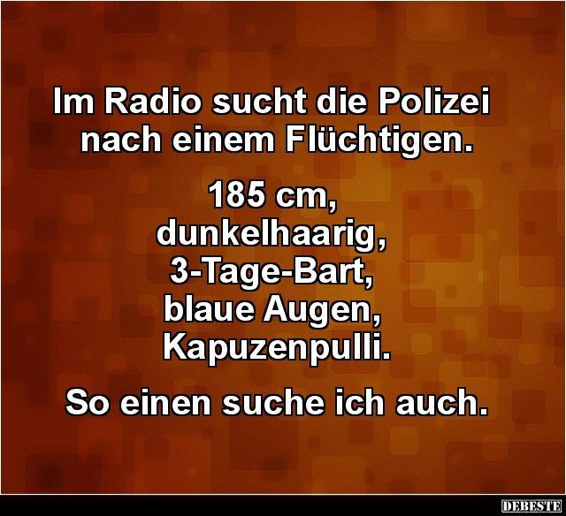 Im Radio Sucht Die Polizei Nach Einem Fluchtigen Lustige Bilder