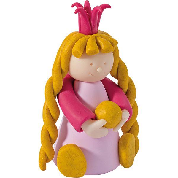Fimo Kids -pakkauksessa on kaikki tarvikkeet ja kuvalliset ohjeet prinsessojen valmistamiseen.