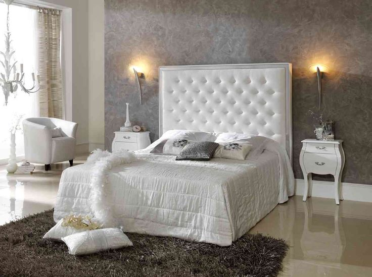 Terrific White Upholstered Headboard