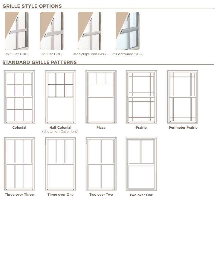 Ply Gem windows: Pro Series - Vinyl - Plaza or Prairie grill patterns -  contact
