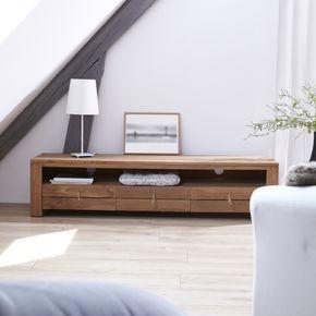 meuble tv bois massif meubles tl chene teck acajou tikamoon - Meuble Tv Blanc Modele Lions