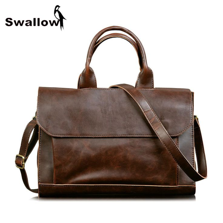 ==> [Free Shipping] Buy Best Business Men's Handbags Branded Men's Tote Handbags Fashion Briefcases Brown Shoulder Bags For Men Leather Brand PU Casual Online with LOWEST Price | 32658342028