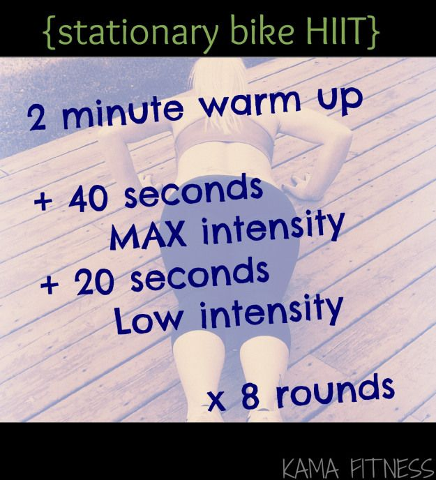 Stationary Bike HIIT Workout. Just did this and my glutes are burning!