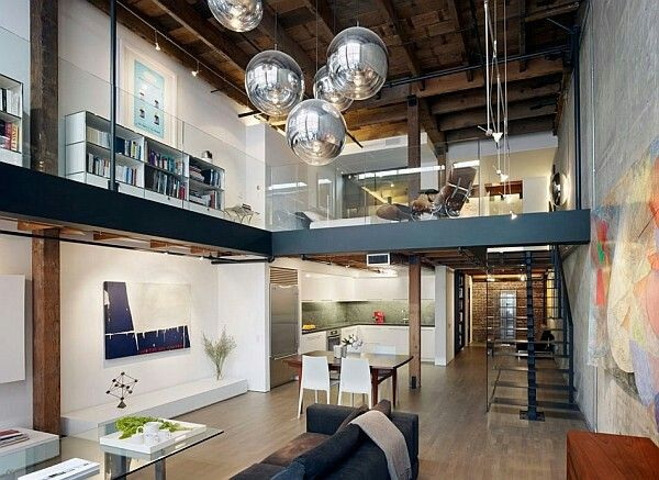 Best Mezanino Images On Pinterest Lofts Stairs And Apartment - A loft with industrial design by russian designer maxim zhukov