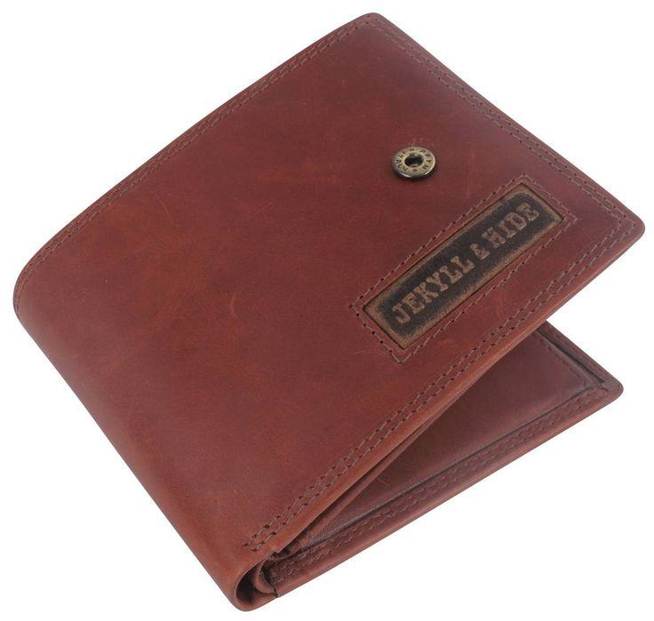 Jekyll and Hide Colorado Leather Bifold Press Stud Wallet - Saddle Brown | Brown Jekyll and Hide Wallet | KJ Beckett