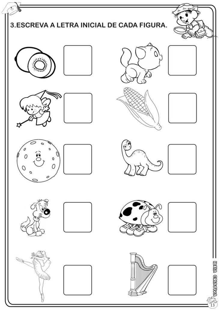 Atividade Avaliativa Educação Infantil Linguagem