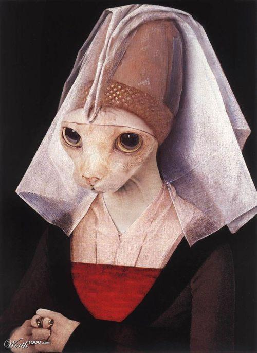 wonderlanddrift:  Weyden's Portrait of a Kitty by Anime_honeydew on Worth1000