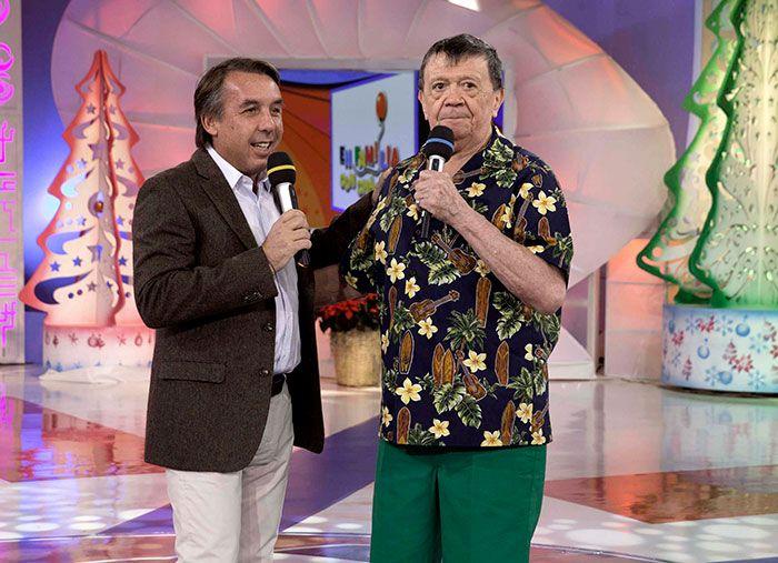 El Presidente de la República y el titular de Televisa apoyaron al conductor en su último programa de En Familia con Chabelo