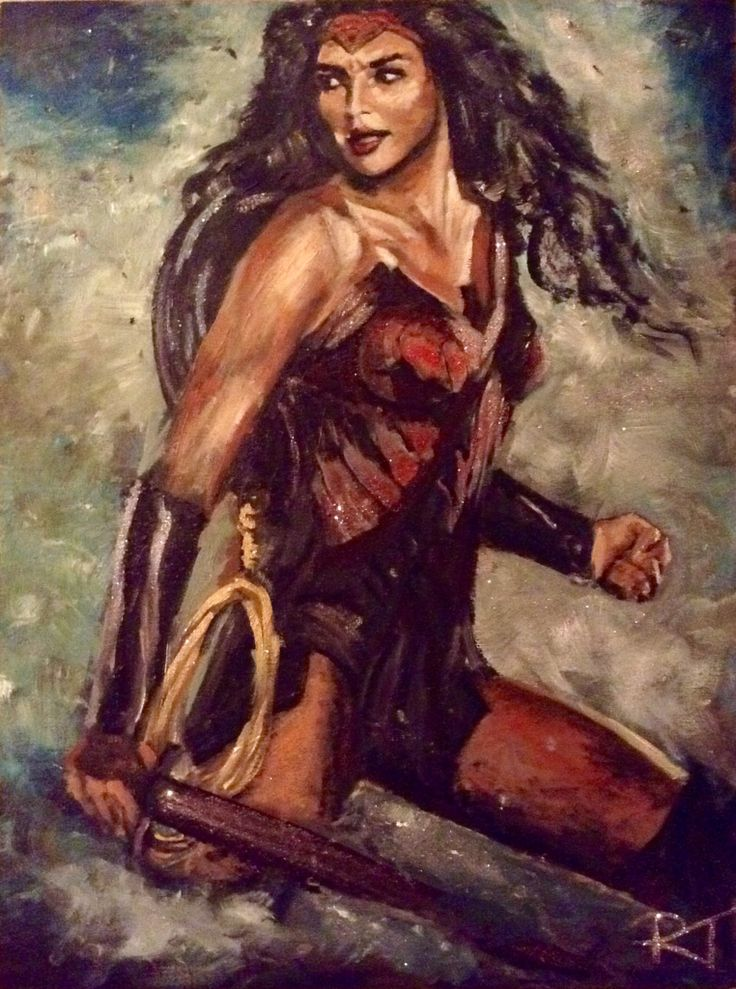 I painted this today basically because she's completely awesome.....Wonder Woman, acrylic on canvas