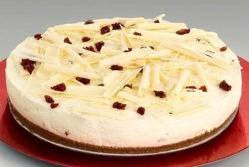Baño Chocolate Blanco Para Tortas:White Chocolate Cranberry Cheesecake