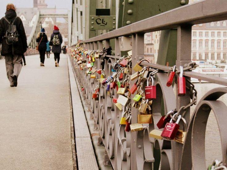 Love bridge, Frankfurt, Germany. Someday I will take my love to this romantic place.