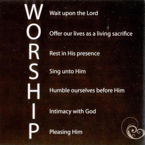 Make a worship acrostic. David was blessed for his worship.