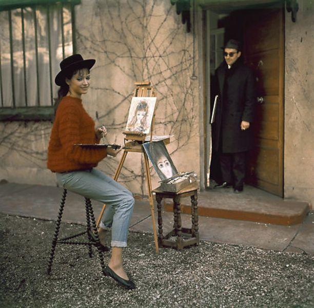 Anna Karina painting