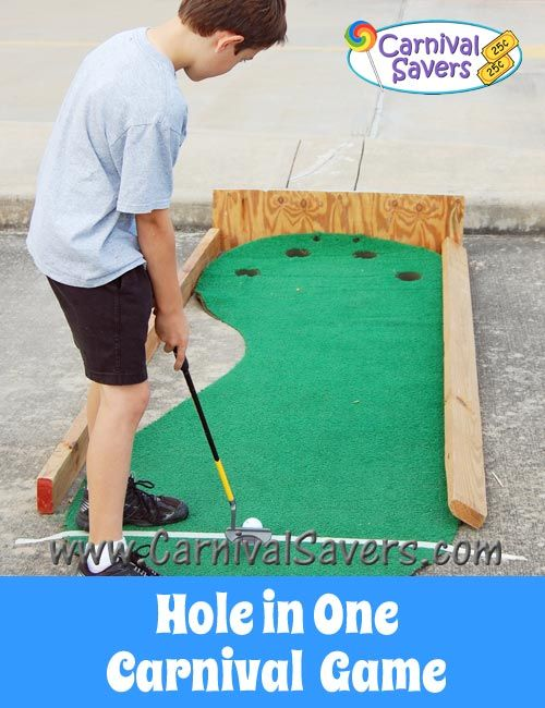 Carnival Game - Hole in One. Great for school carnivals, fundraising carnivals and more!